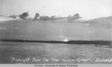 Midnight sun on the Yukon River - Alaska