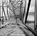 Reinforcing steel in place prior to pouring deck slab on main bridge. June, 1967.