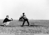 Baseball with Rowland Cox catching