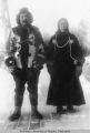 Man and woman in winter furs