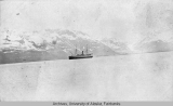 Steam ship off Port Valdez, Alaska