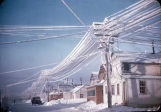 First Avenue, Nome. Frost on wires.
