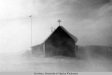 St. Thomas Church, Point Hope in blowing snow