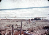 Beach - ice - open water - June 1949, Nome, Alaska.