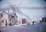 Winter in Nome, Alaska. Showing Catholic Church.