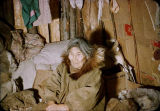 Nora Black in her sod home at Shungnak.