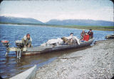 Lake Selby - family group with Eskimo guide.
