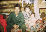 Eskimo family at home in Shungnak.
