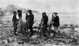 Hobart H. Brownell, chief cameraman, with other cameramen and photographers for the 1923 film...