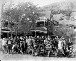 "Actors and film crew of the 1923 film ""The Cheechakos"" pose for this photograph."