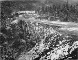 Bridge 69 to be replaced by a rock fill. Oct. 7 - 1919.