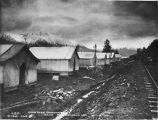 Snow shed constriction camp 75 1/2 Turnagain Arm. Oct. 12/1919.