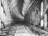 Inside view of snowshed No. 54. B. Oct. 8/1919.