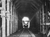 Inside view of snowshed 75 1/2. Oct. 12/1919.