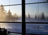 View of blowing snow.