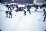 Hockey game at Ninilchik School.