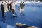 Creating an ice skating rink.