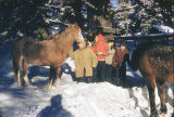 Afognak Valley students and horses.