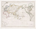 CHART OF THE WORLD, ACCORDING TO MERCATORS PROJECTION, SHEWING THE LATEST DISCOVERIES OF CAPT....