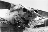 Damaged airplane.