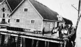 Men on dock of Port Althrop [Althrop].