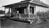 Cribb home, Fairbanks, Alaska. Taken Sept. 8, 1909.