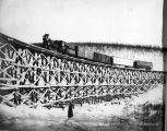 Tanana Valley Railroad no. 5 bridge head of Fox Gulch.