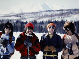 Ski[ing] from Unalakleet from Kaltag. L to R: Jake (John Allen) Semaken, Tommy Neglaska, Peter...