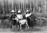 Newton Children with goat and kid.