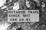 Iditarod Trail sign.