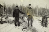 Logan and John Luke with their successful harvest of whitefish at George Lake, 1949.