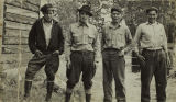 Left to Right: Alex Joe, Arthur Healy, Silas Solomon, and John Healy at Big Delta (now Delta...