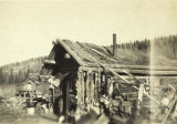 Paul Healy's house and the Healy River Trading Post at Healy River, circa 1930s.