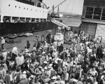 Cannery workers boarding Cape Victory