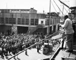 Cannery workers preparing for departure to Alaska