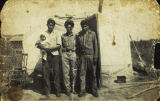 Charlie David, Donald Joe, and Patrick Joe in Tetlin, circa 1940.