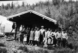 People at fish camp on the Healy River, circa 1939.