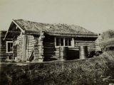 Log house, Healy Lake, circa 1940.