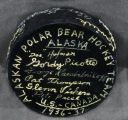 Signed hockey puck