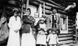 Elsie Luke, Jeannie (Thomas) Luke, Stella Luke, Henry Luke, and Richard Luke, Tanacross, circa...
