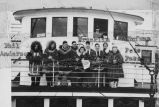 Alaskan Polar Bears Hockey Team on ship