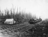 A. E. C. Ry. [Alaska Engineering Commission Railway] Steel gang coming in for dinner. Wassila...