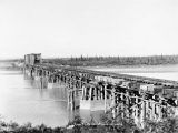 Knik River bridge, looking north.
