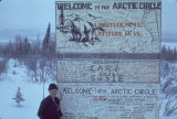 My first ground crossing of the Arctic Circle.