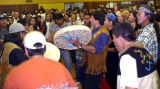 Chief Peter John's funeral potlatch, Minto.