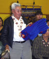 David Salmon with blanket.