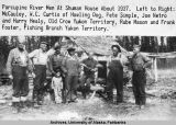 Porcupine River - Men at Shuman House about 1937