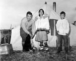 Teller area. School teacher's family camping, 1945.