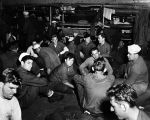 Detachment 1058 on way to Point Barrow, 1945. Aboard U.S.S. Spica.