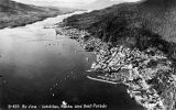 Air view - Ketchikan, Alaska, and Boat Parade.
